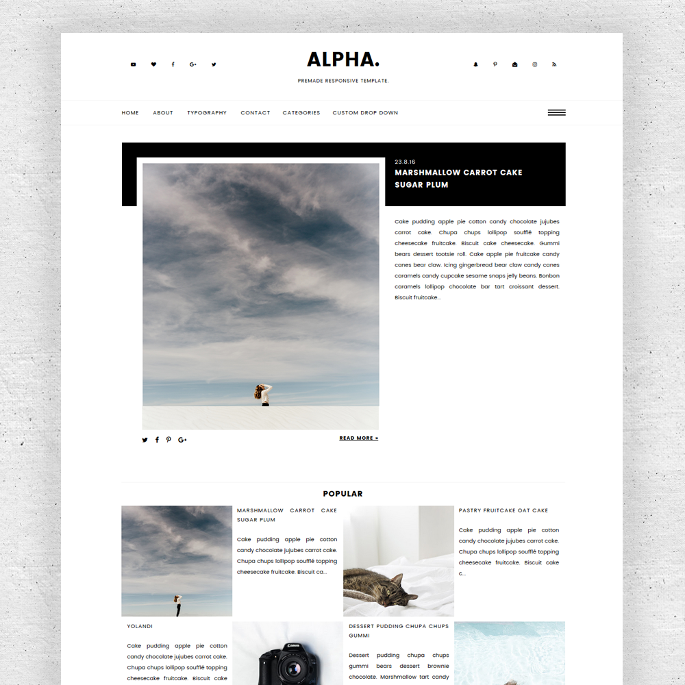 Alpha - Web | Blogger Templates | Pinterest | Blogger themes and ...