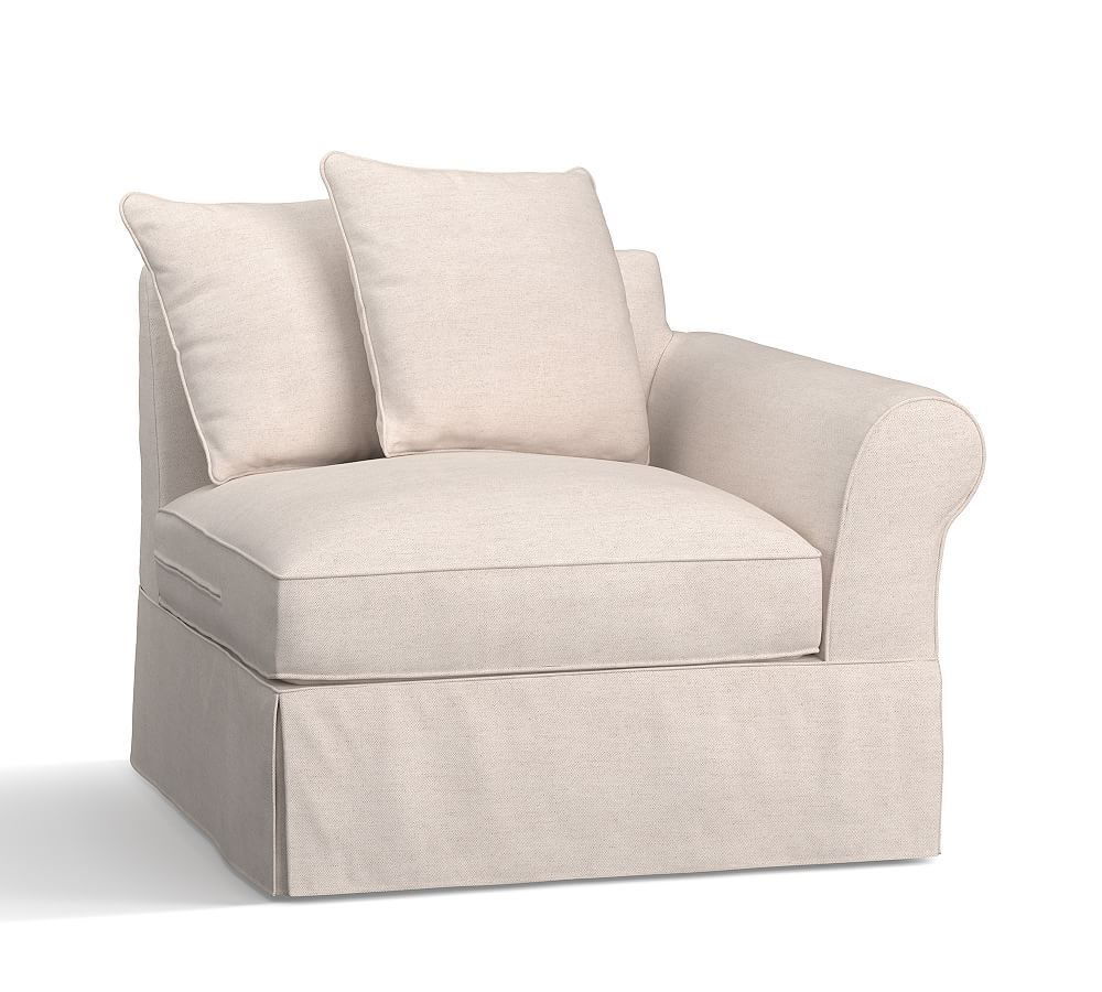 Build Your Own Pb Comfort Roll Arm Sectional Component Slipcovers Slipcovers For Chairs Furniture Slipcovers Sectional Slipcover