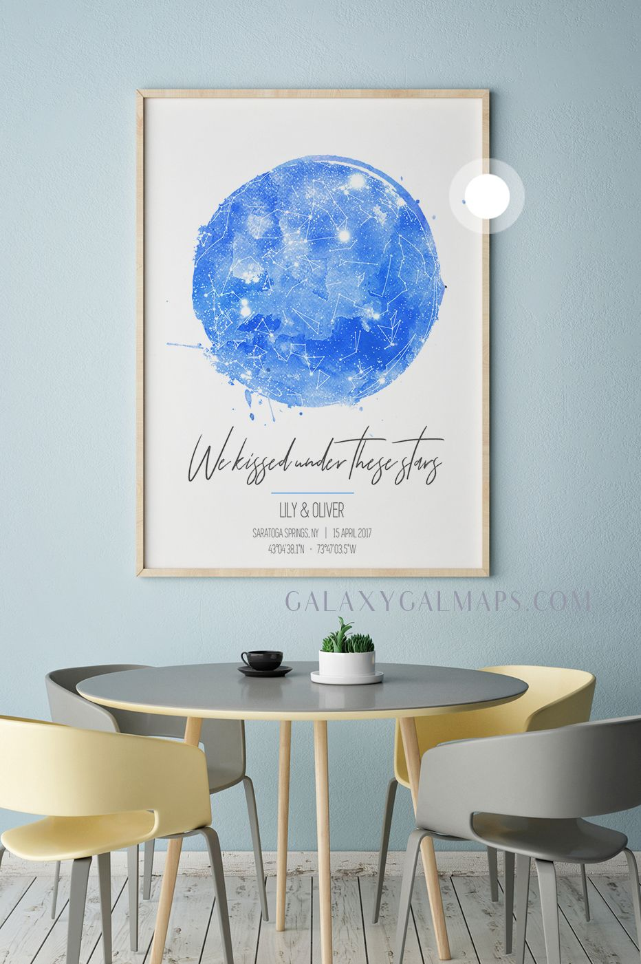 Personal star map by date and location astronomy print wall art personalized heart also rh pinterest