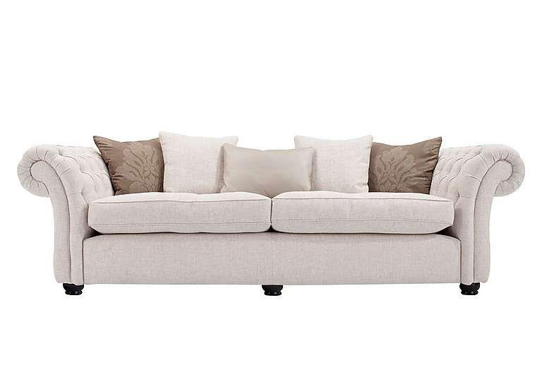Marvelous Langham Place 4 Seater Fabric Sofa In Layton Ivory Dark Feet Lamtechconsult Wood Chair Design Ideas Lamtechconsultcom