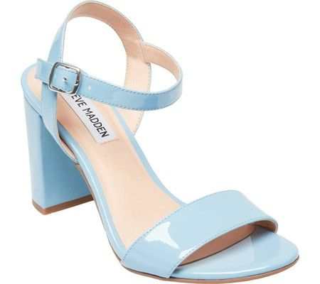 02f4421b434922 Women s Steve Madden Selfish Heeled Sandal - Blue Patent with FREE Shipping    Exchanges. Polished and sexy