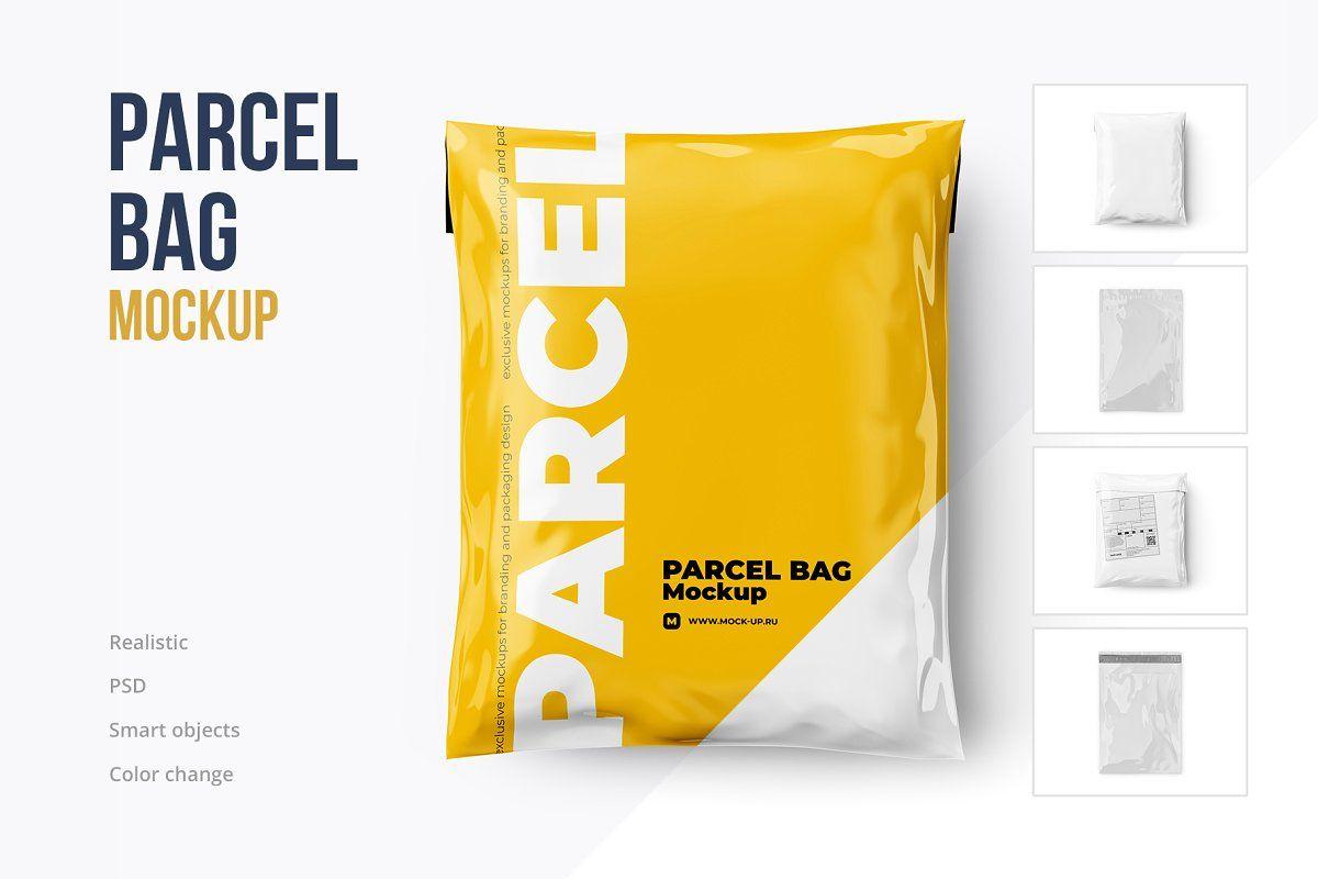 Download Parcel Mailing Shipping Bag 4 Psd Bag Mockup Parcel Packaging Mockup