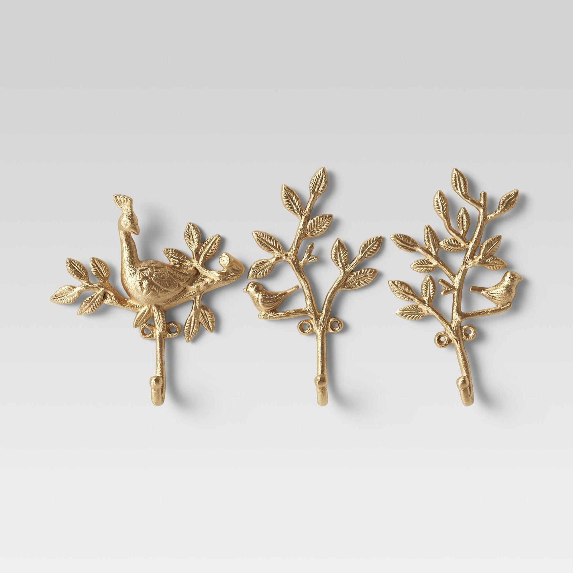 Set Of 3 Wall Hooks Light Gold Opalhouse™ Wall hooks