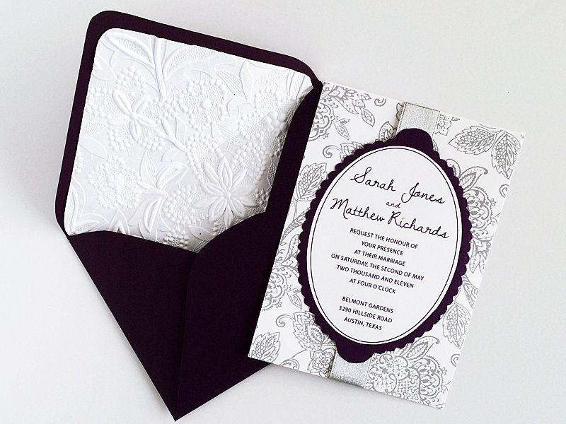 diy matelasse wedding invitation and envelope liner download