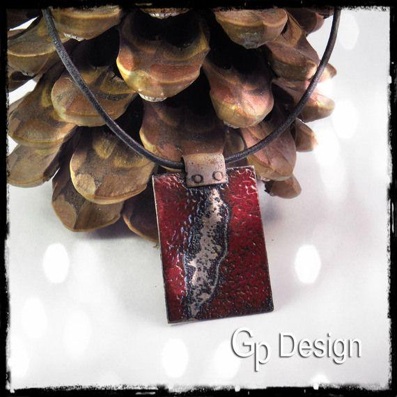 Collier cuivre émaillé rouge profond - Ethnique - RESERVE