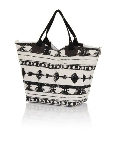 Black & White Aztec Beach Bag | South Beach Official | To the ...