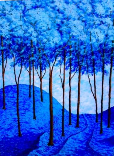 "Saatchi Art Artist Mike Kraus; Painting, ""Twilight Woods (Original Acrylic Painting) 36"" x 48"" by Mike Kraus"" #art"