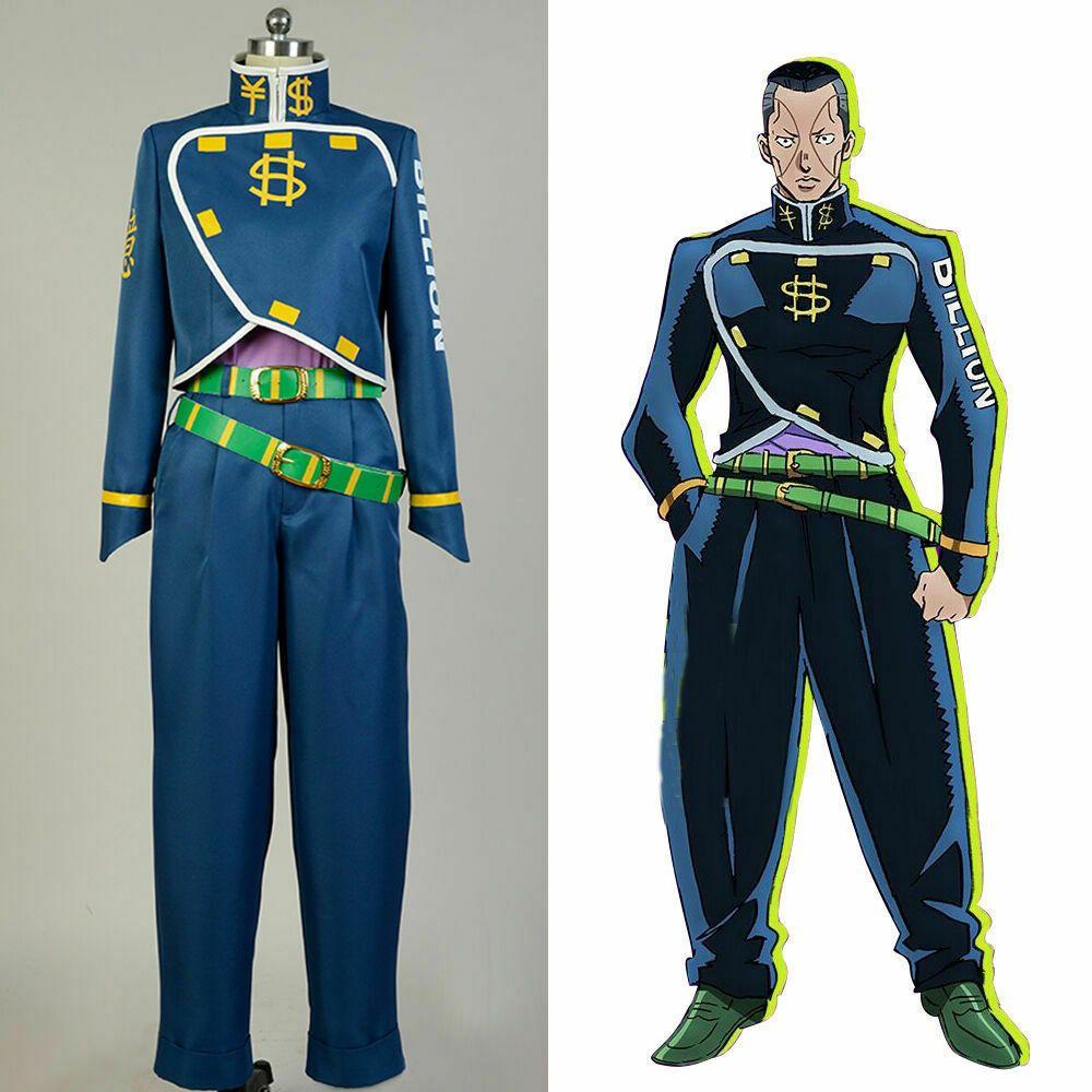 JoJo/'s Bizarre Adventure Okuyasu Nijimura Uniform Cosplay Clothing Cos Costume