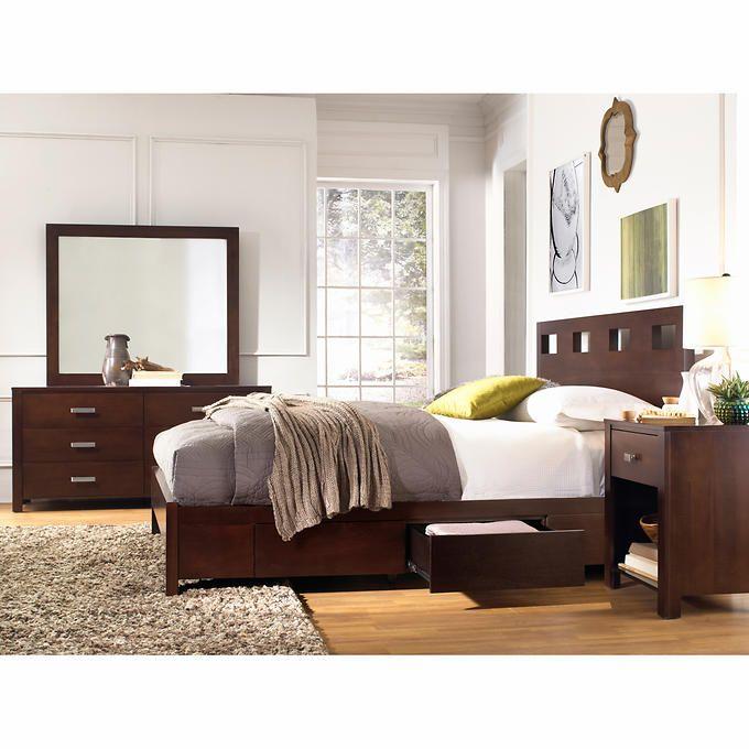 Best Paxton 5 Piece Queen Storage Bedroom Set Bedroom Storage 400 x 300