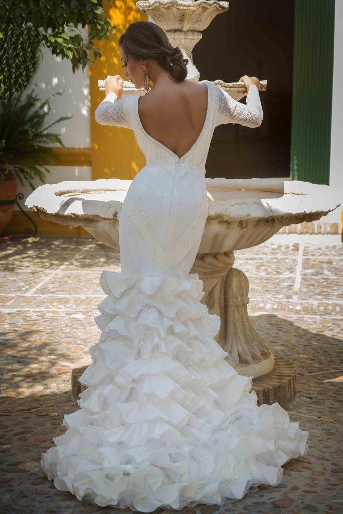 vestidos de novia flamencos | novia flamenca