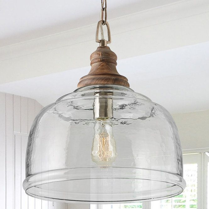 Organic Rippled Glass Pendant #pendantlighting