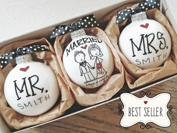 Wedding Gift Ornaments: Wedding Gift, Personalized Wedding Gift, Wedding Ornament