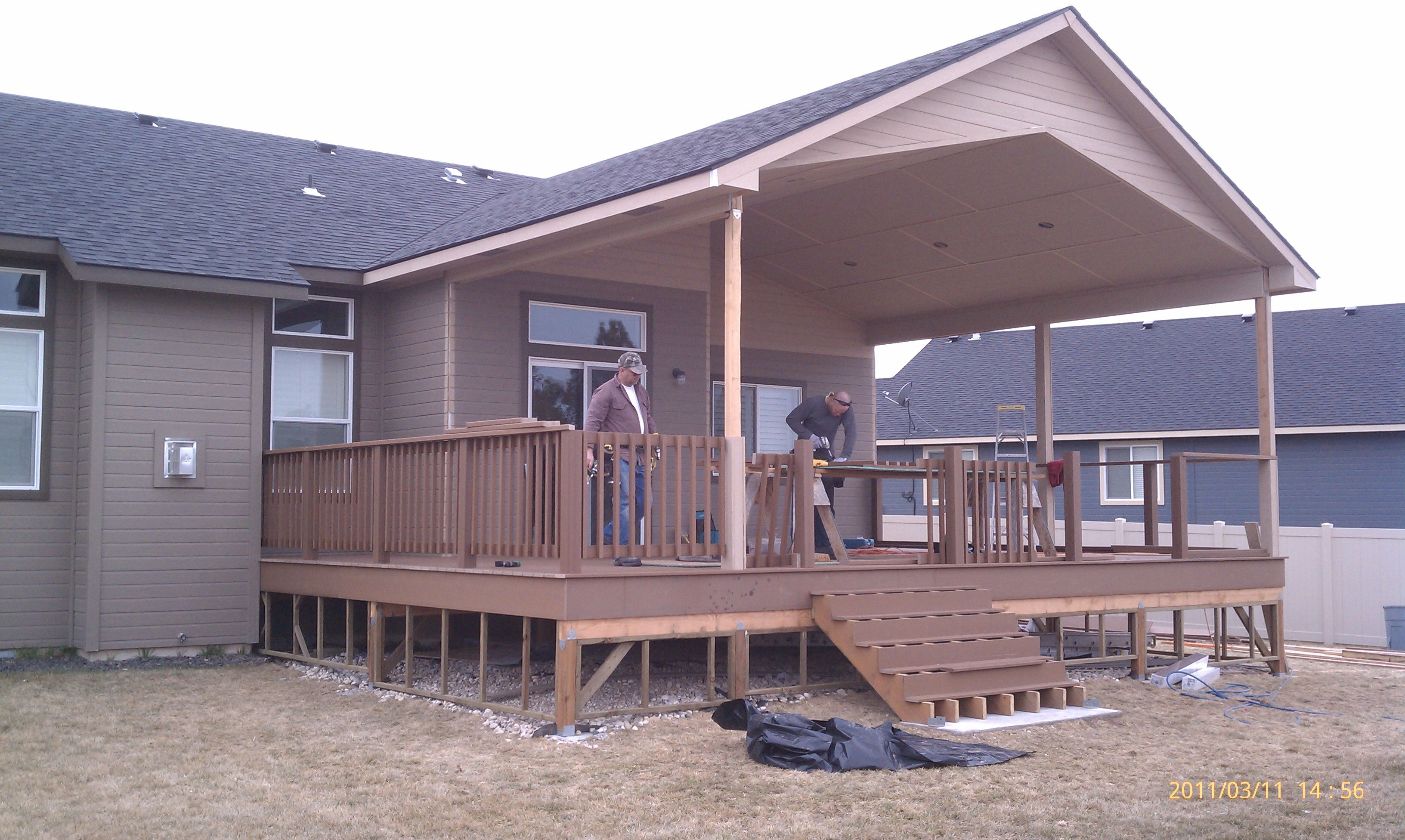 Would Love A Big Covered Deck Covered Deck Pinterest
