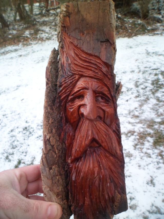 Learn to carve wood spirits with our online wood carving