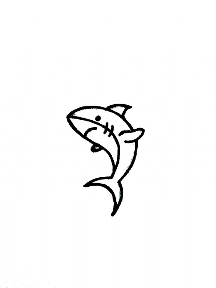 35 Cute Easy Animal Drawing Ideas Drawings Things To Draw Shark Drawing Doodle Bujo Simple Dra In 2020 Tattoo Drawings Cute Easy Animal Drawings Shark Drawing
