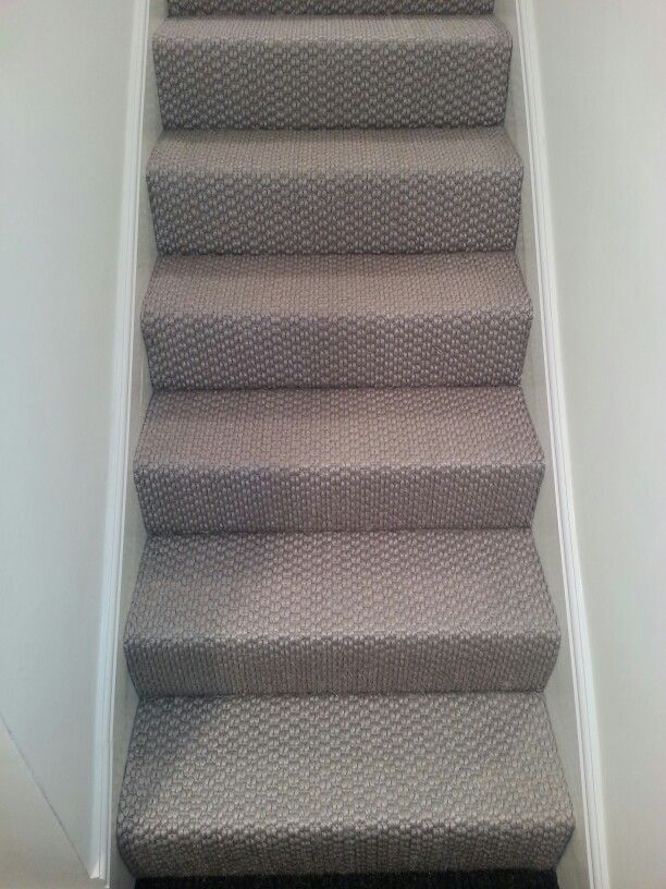 Sisal carpet on stairs at a job in Westminster! | Carpet ...
