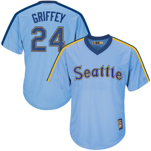 8983d44d039 Men's Seattle Mariners Ken Griffey Jr Majestic White Home Cool Base  Cooperstown Collection Player Jersey