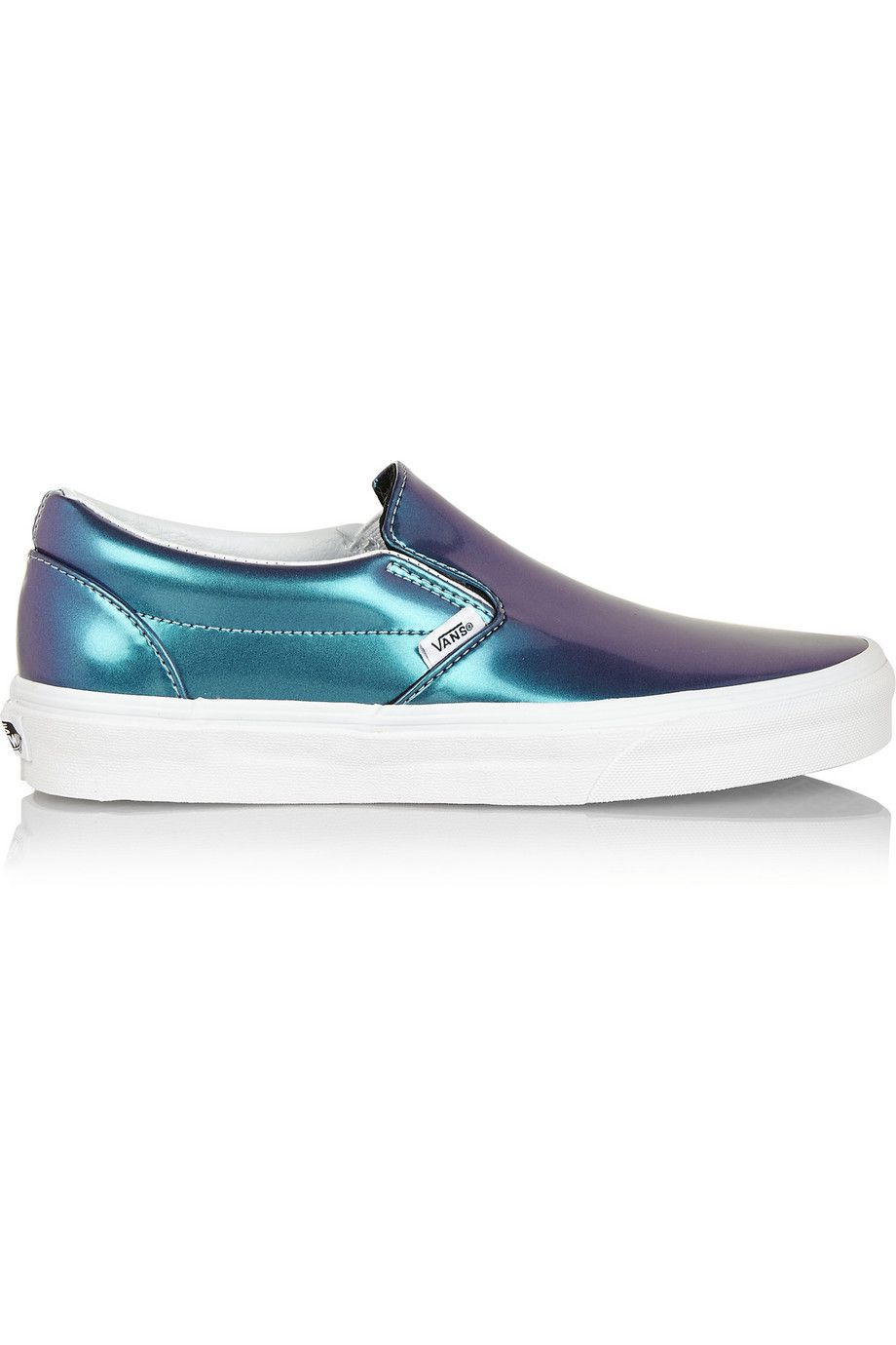 570e756ff605 Holographic leather slip-on sneakers   Vans  vans  slipon  sneakers  shoes   holographic  trend