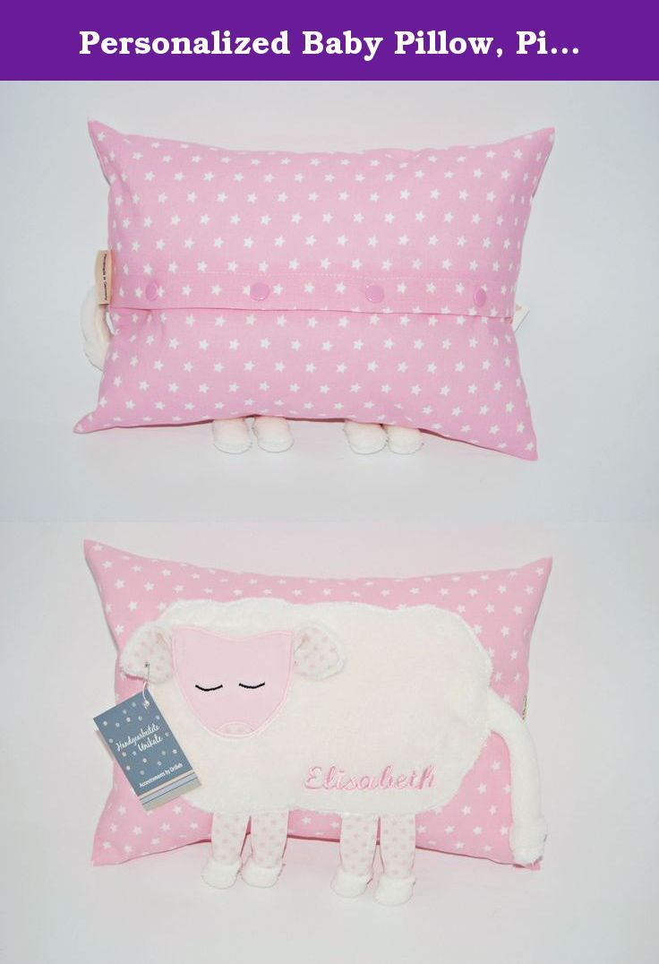 Personalized baby pillow pink stars cute baby pillow baby personalized baby pillow pink stars cute baby pillow baby shower gift cotton negle Images