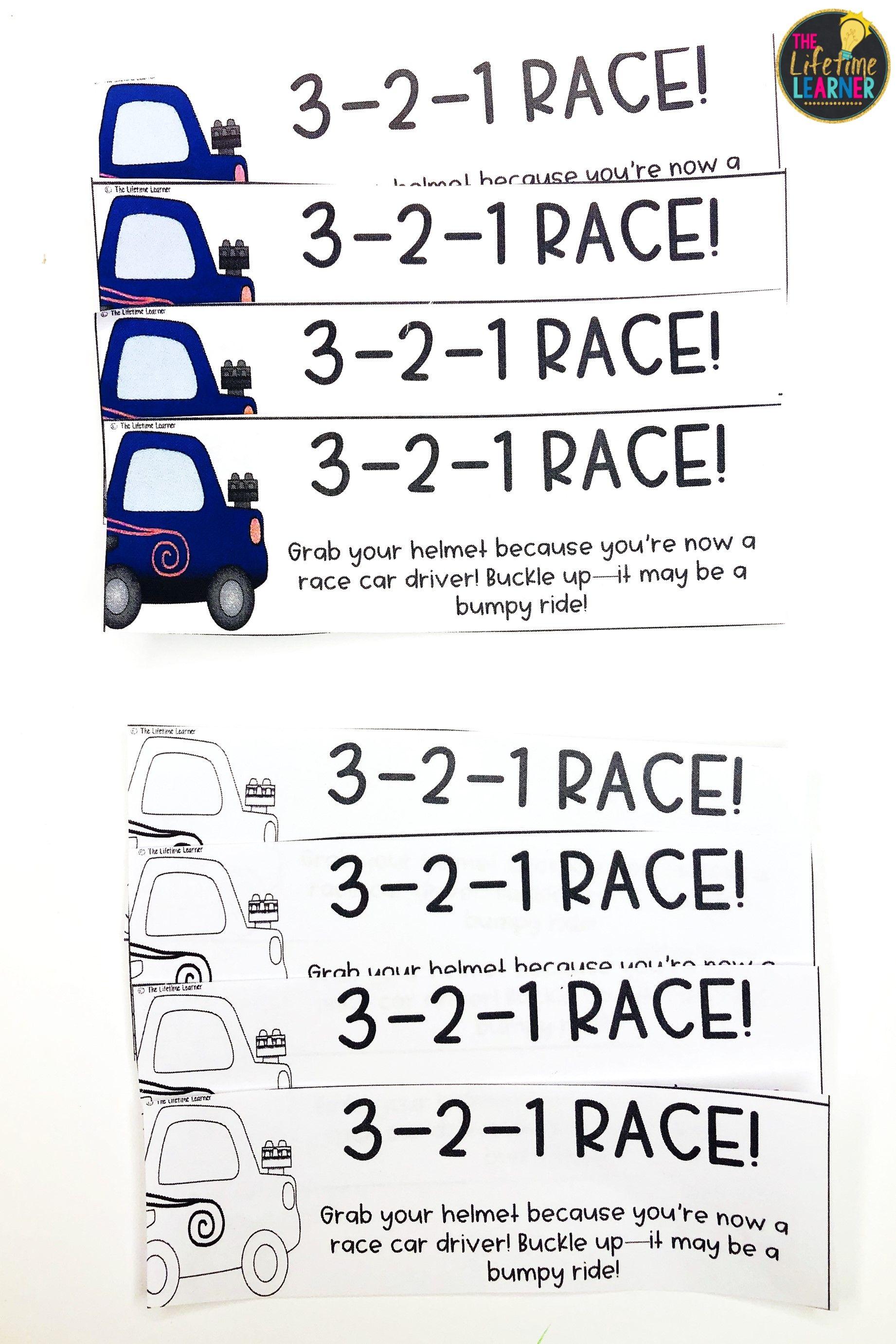Race Car Classroom Transformation