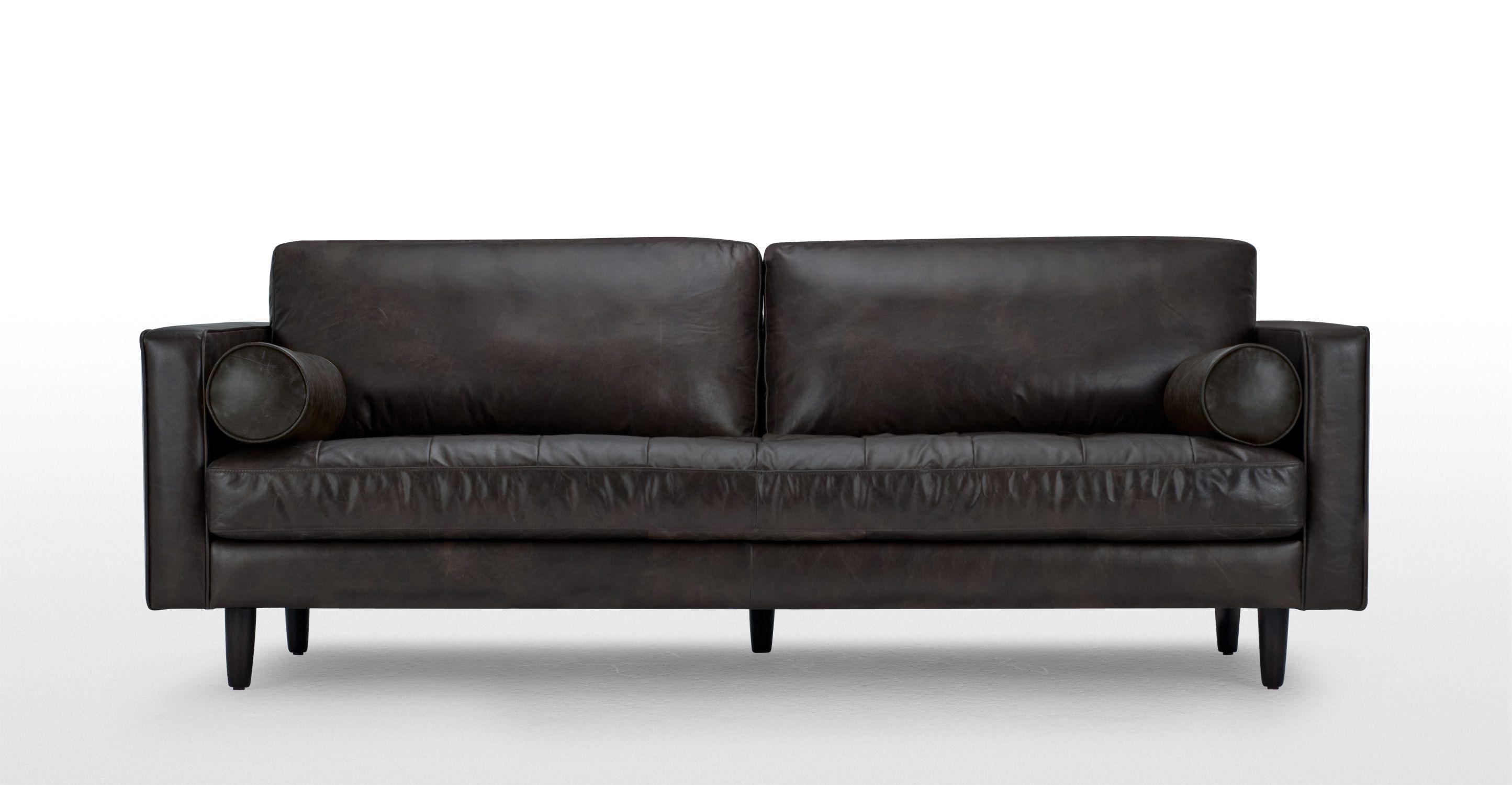 Scott 3 Seater Sofa Vintage Brown Premium Leather Canape Cuir Noir Canape 3 Places Fauteuil Club Cuir