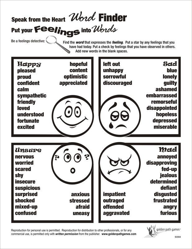 Feelings Word Finder Flyer Feelings And Emotions Activities For