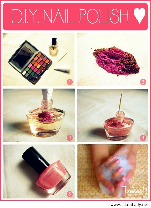Make your own Nail Polish with old eye shadow | Upcycle, Recycle ...