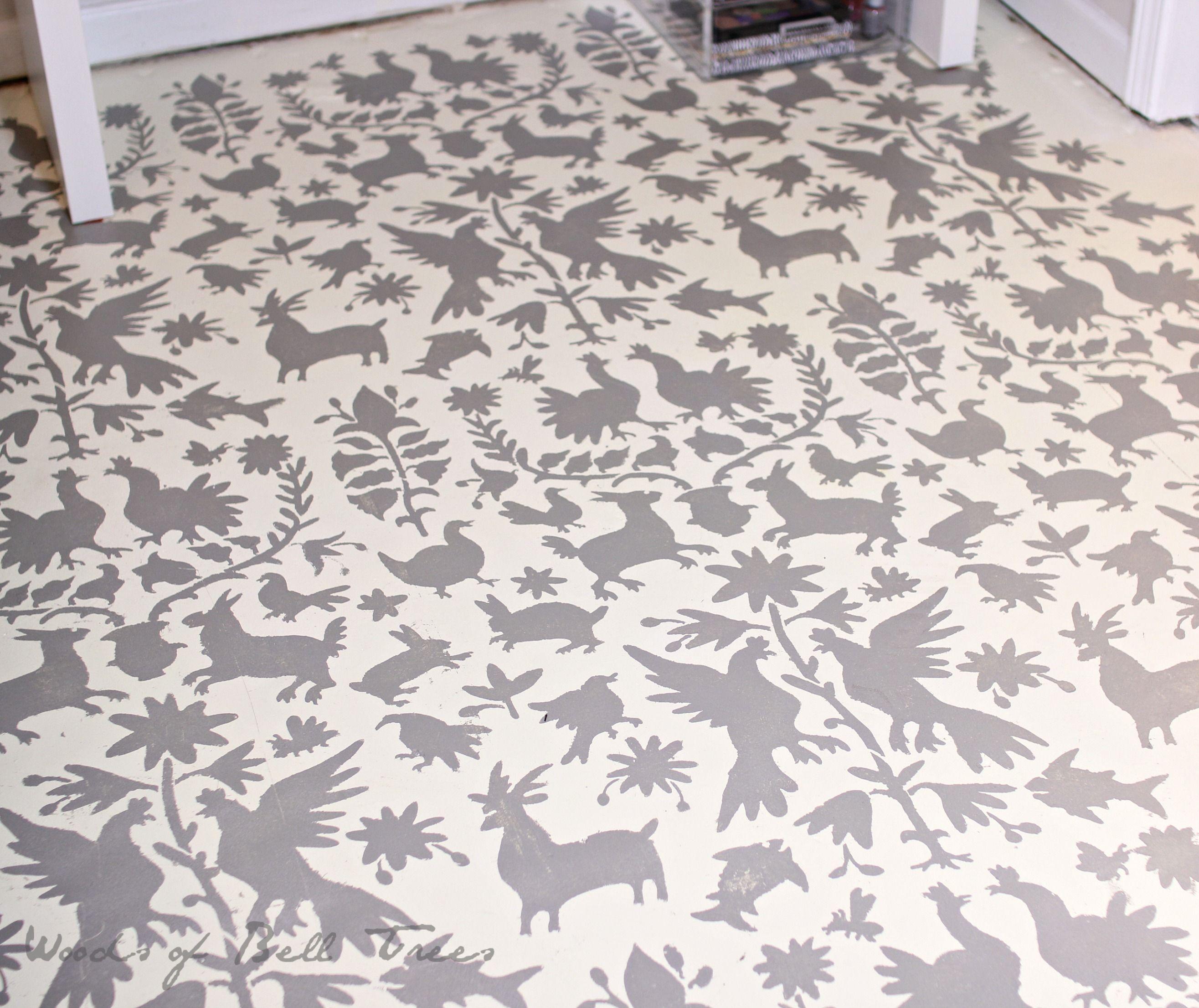 Painted Concrete Floors Otomi Painted Concrete Floor Annie Sloan Chalk Paint Diy
