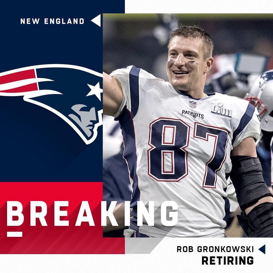 Nfl On Instagram Patriots Te Gronk Is Retiring After 9 Seasons Damian Strohmeyer Ap Patriots Football Gronk Gronkowski