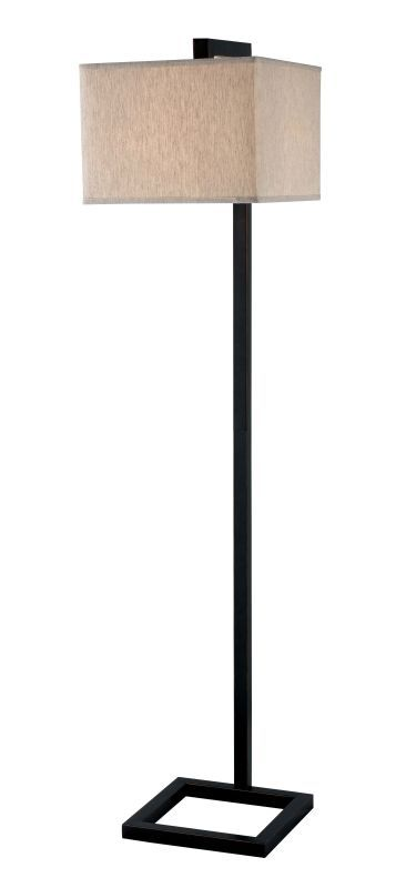 Kenroy Home 21080 4 Square 1 Light Floor Lamp Oil Rubbed Bronze Lamps Floor Lamps