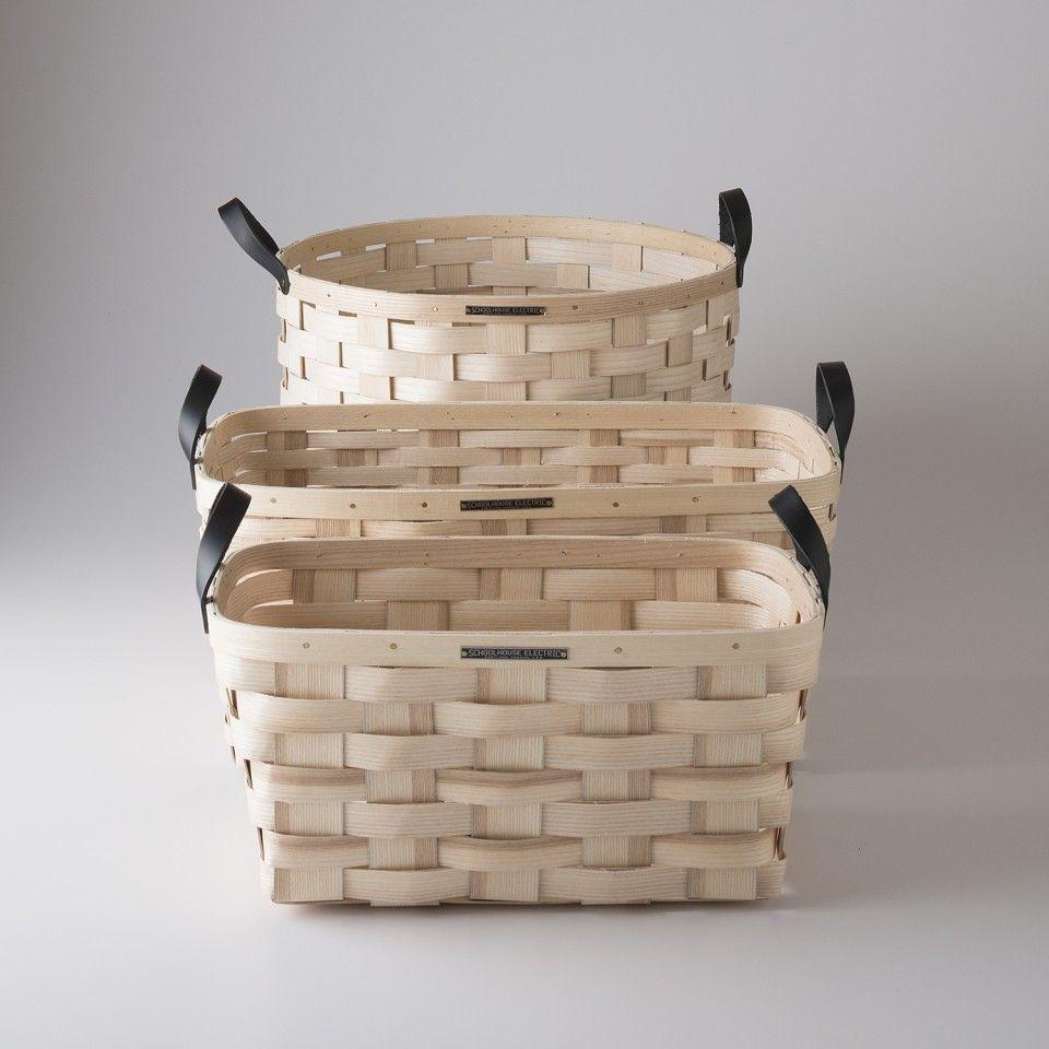 White Ash Baskets Basket Storage Baskets Bamboo Crafts
