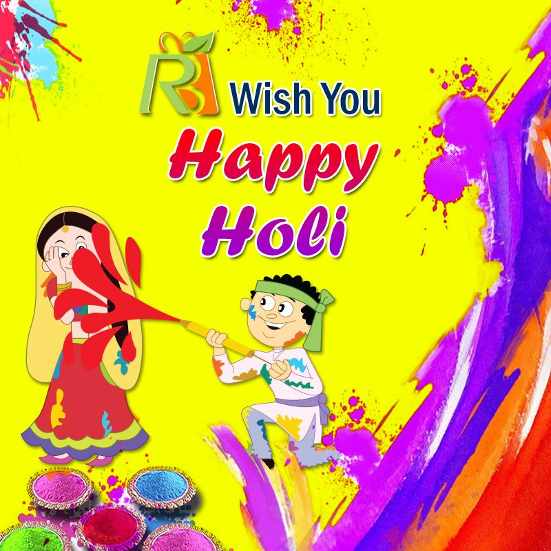 Let us live in #Harmony with #Nature without destroying her. Richie Bags wishes you a colourful #Holi.