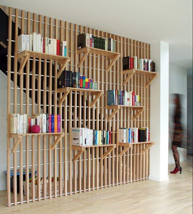 Bookshelf Room Divider Design Ideas images