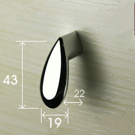 modern creative furniture decoration knob shiny silver drawer