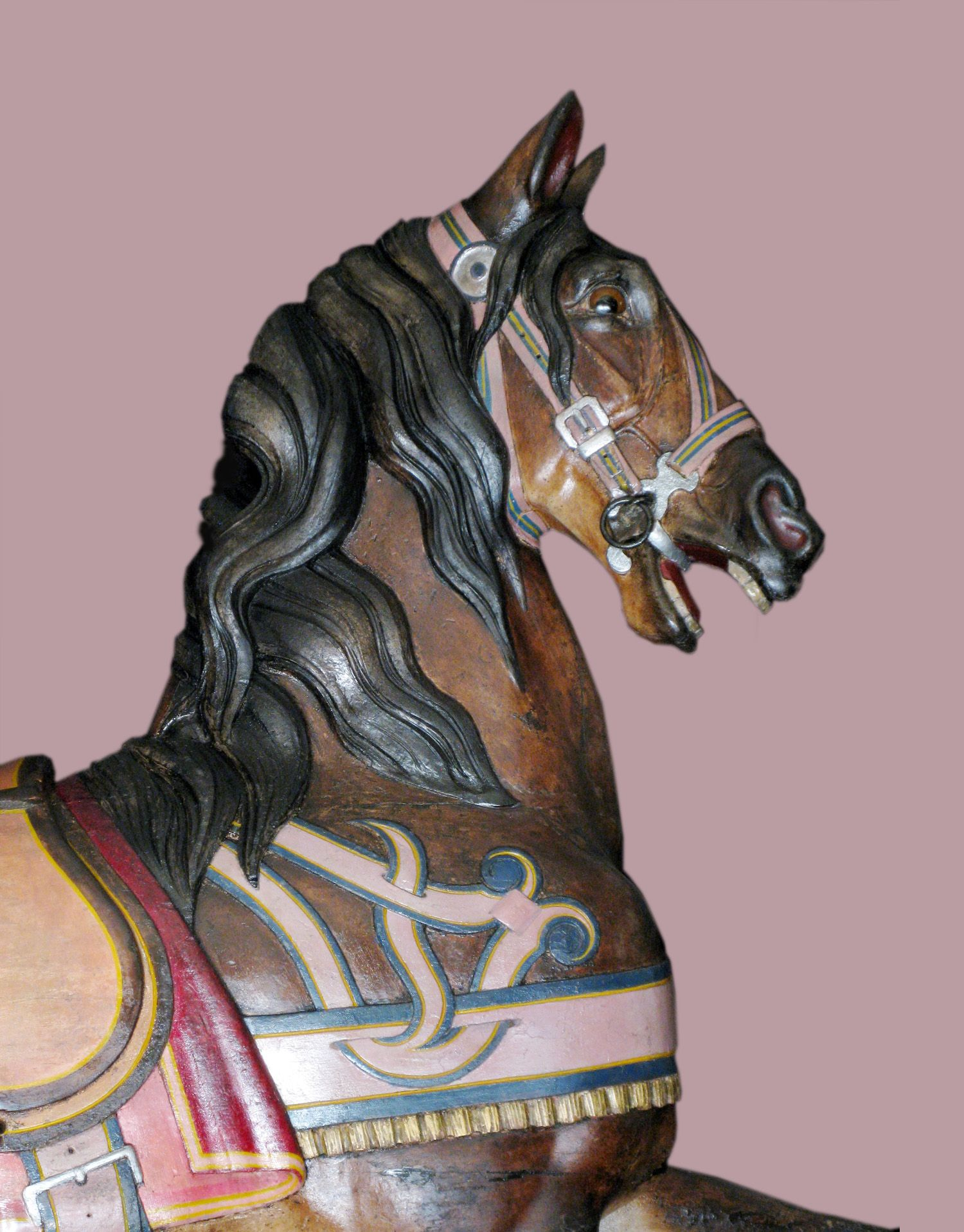 Ca 1900 Dentzel thoroughbred bust