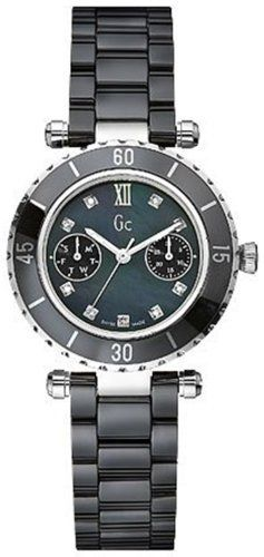 4df451bdc GUESS Gc DIVER CHIC Diamond Dial Black Ceramic GUESS. $379.00. Sapphire  Crystal. Luxury Gc gift box packaging included .. Water resistant to 100  meters.
