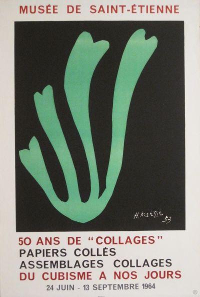 50 Ans De Collages Original Poster By Matisse Henri Ca 1964 Printer Mourlot Art De Matisse Cubisme Affiche D Exposition