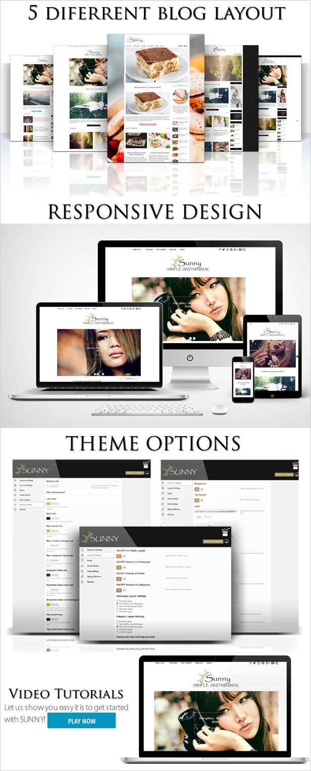 Sunny - Simple and Minimal WordPress Theme