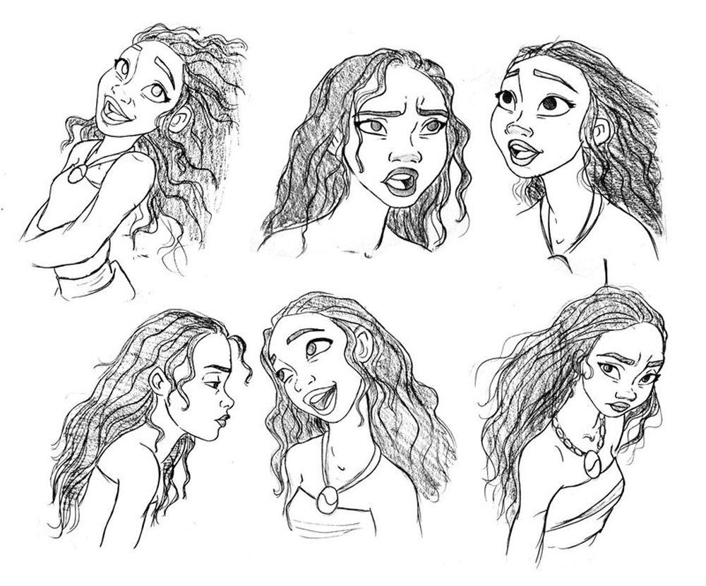 Moana Dibujos Colorear Princesa Disney: Rostro De Moana Princesa De Disney