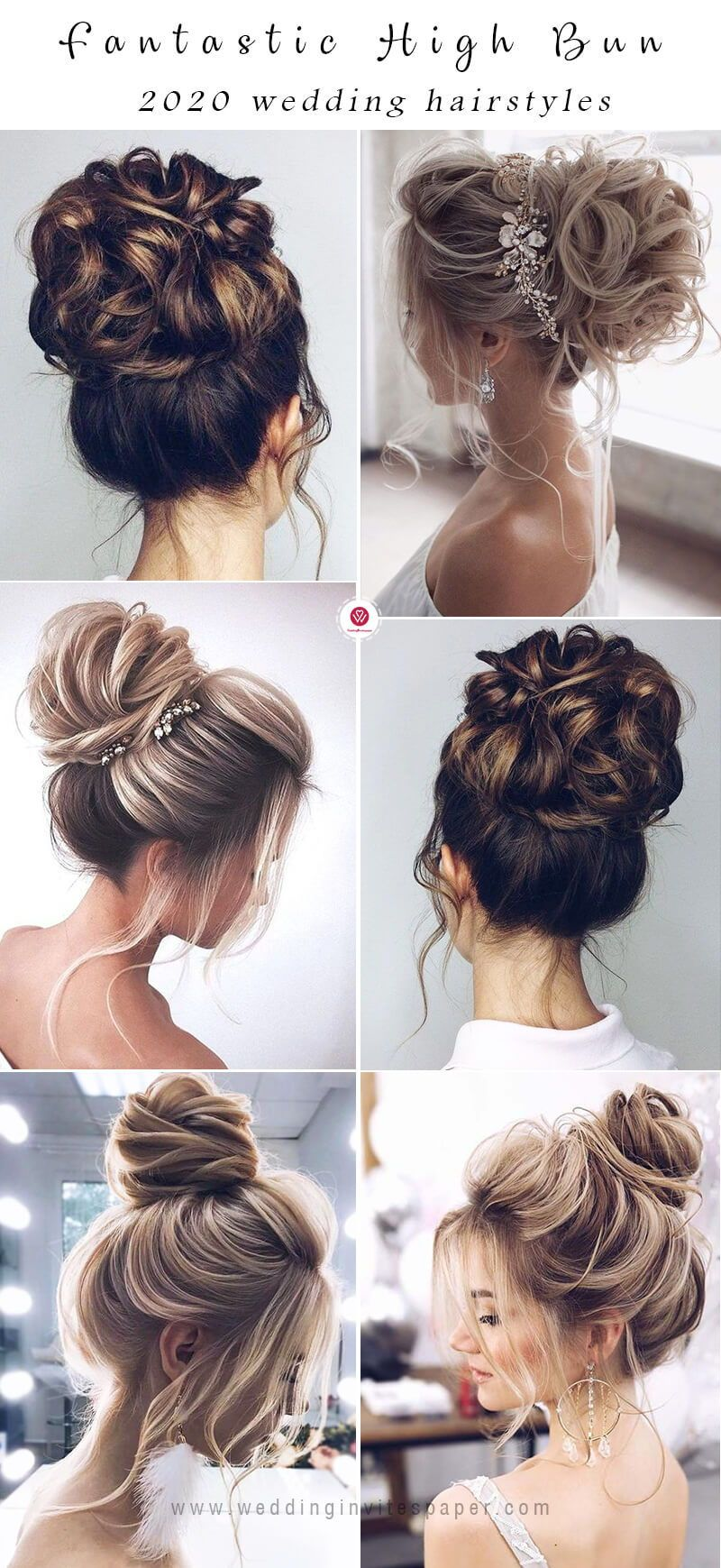 47 Romantic and Easy Updo Wedding Hairstyles for 2020 | Bridal hair buns,  High bun wedding hairstyles, Hair styles