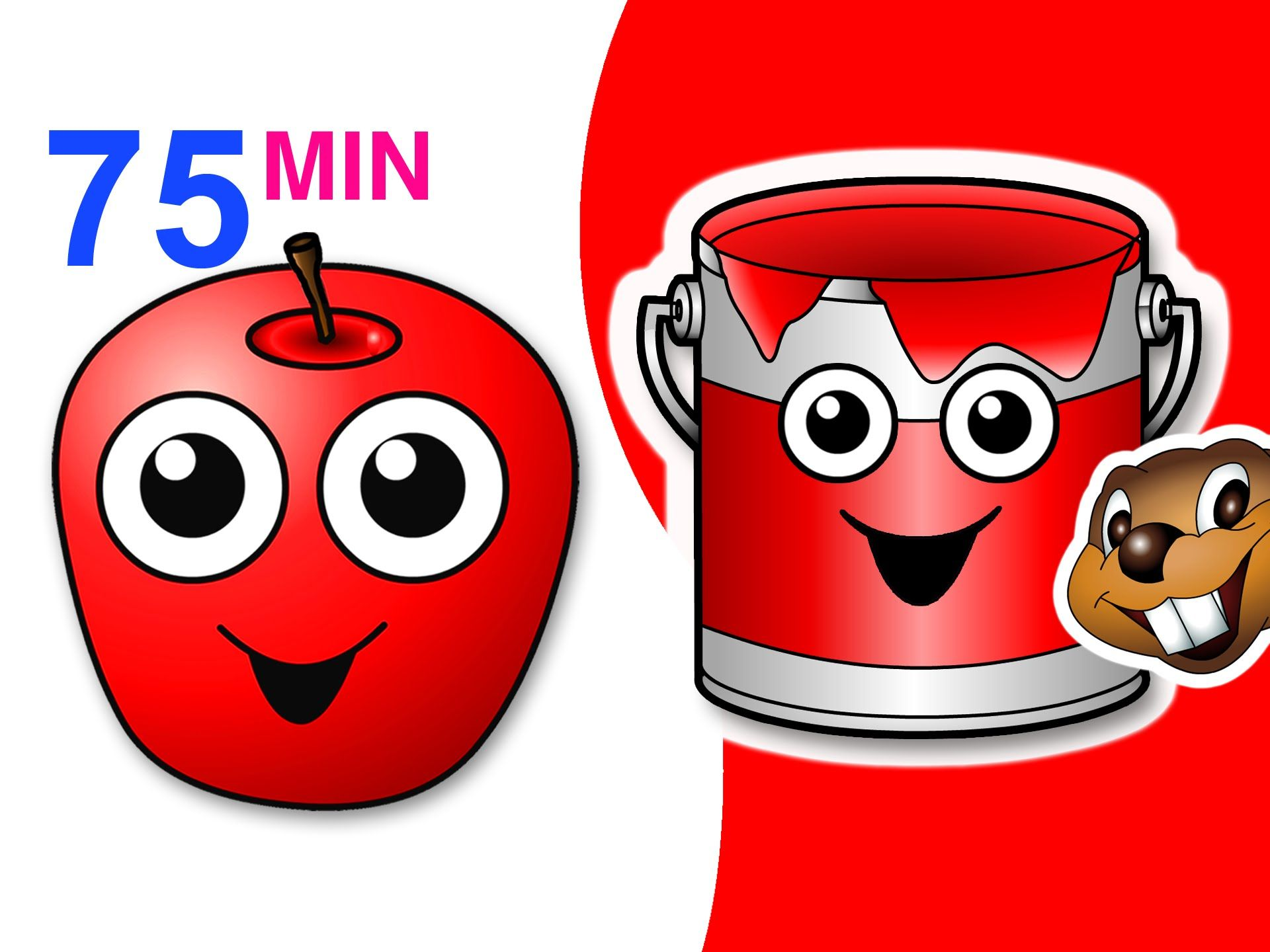 Red Apple Songs Collection 75 Mins Of Nursery Rhymes Busybeavers Teach Fruit Surprise Eggs More Apple Song Fruit Song Red Apple