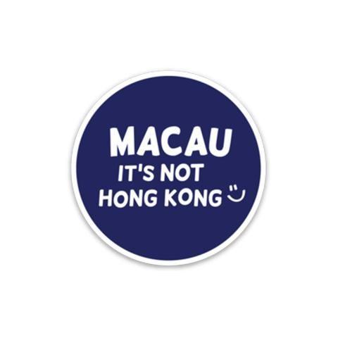 Macau its not hk sticker blue