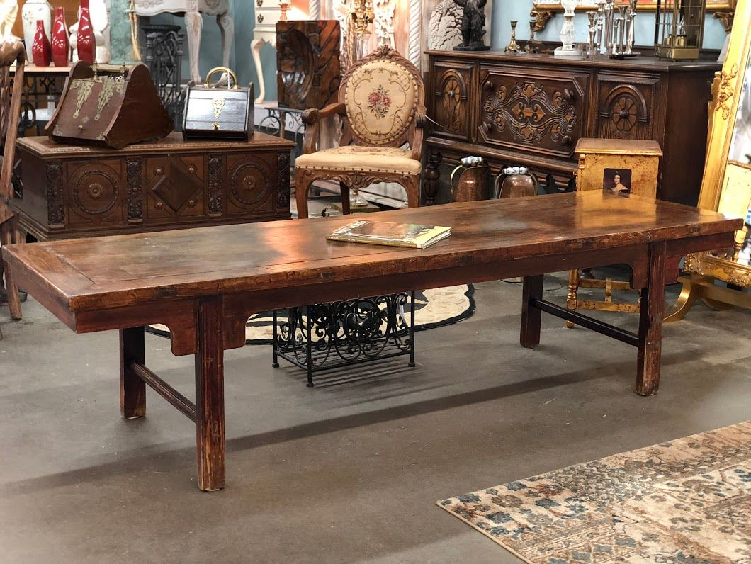 Antique Oriental Doweled Table 83