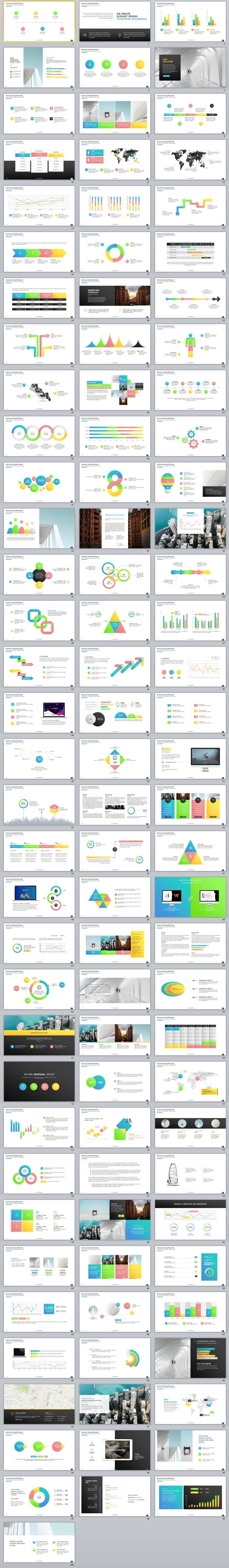 100+ Best multicolor infographics charts PowerPoint Template ...