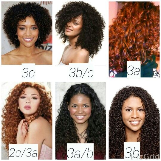 hair type chart shows textures