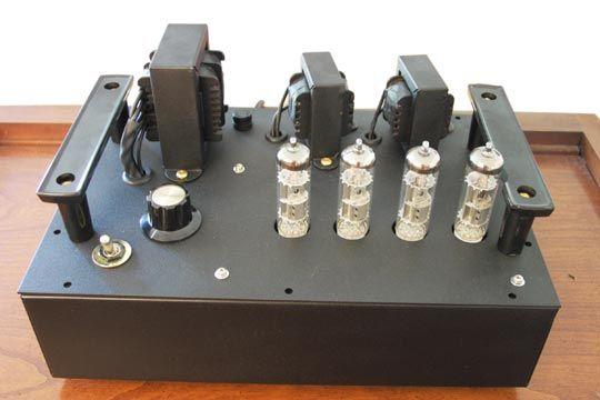 diy tube amplifier kit build in recycled box part 1 living room av vacuum tube. Black Bedroom Furniture Sets. Home Design Ideas