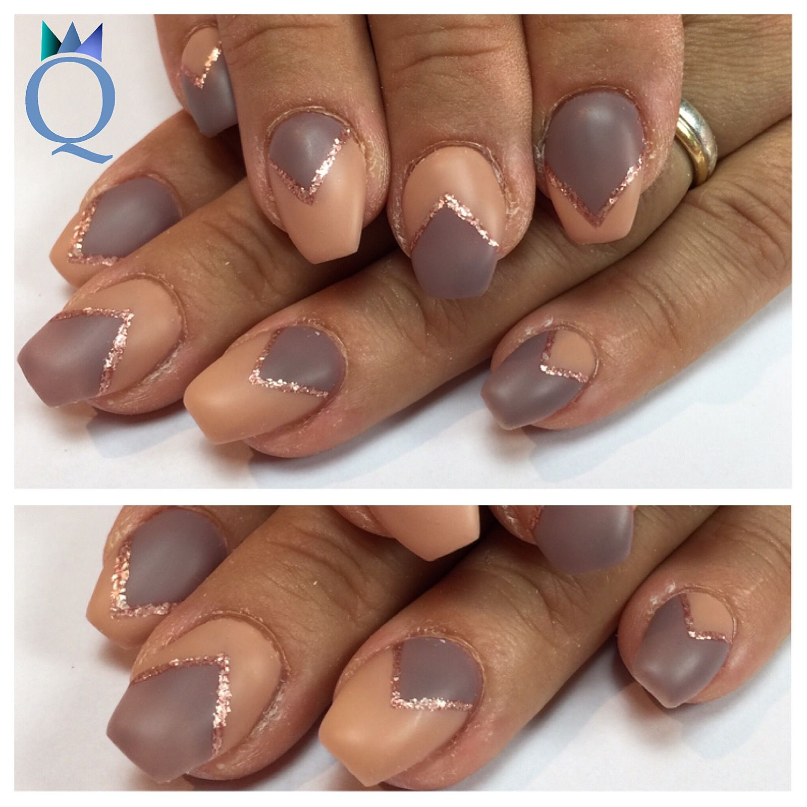 coffinnails gelnails nails beige taupe rosegold. Black Bedroom Furniture Sets. Home Design Ideas