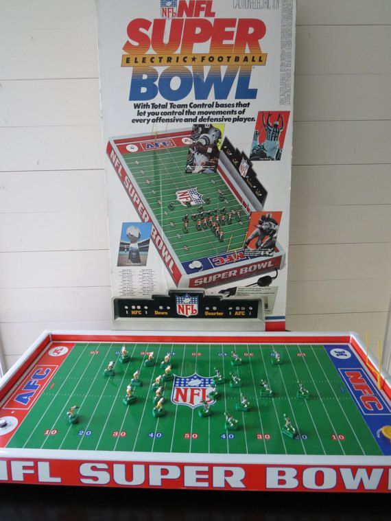 Vintage Electronic Football Nfl Super Bowl By Inthewhitebarn