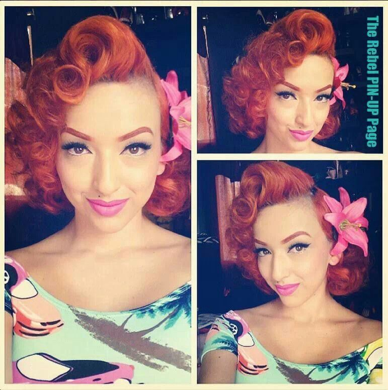 Pin On Retro Vintage Pinup Hairstyles Makeup Luv
