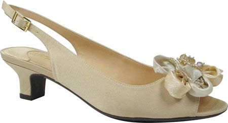 a02d20644ecb Women s J. Renee Leonelle Low Heel Open Toe Slingback - Champagne Satin  with FREE Shipping   Exchanges. The Leonelle Low Heel Open Toe Slingback  from J. ...